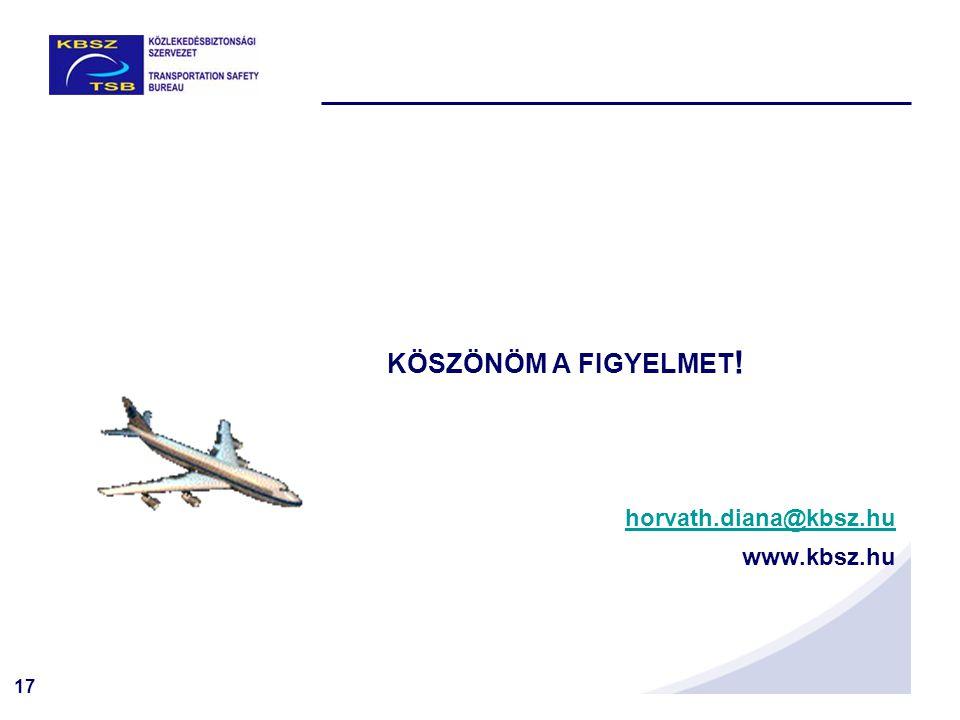 17 KÖSZÖNÖM A FIGYELMET ! horvath.diana@kbsz.hu www.kbsz.hu