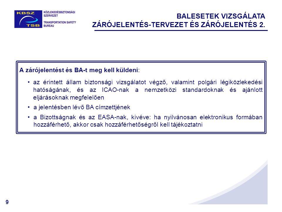10 BIZTONSÁGI AJÁNLÁSOK vizsgálat vagy egyéb forrás (pl.