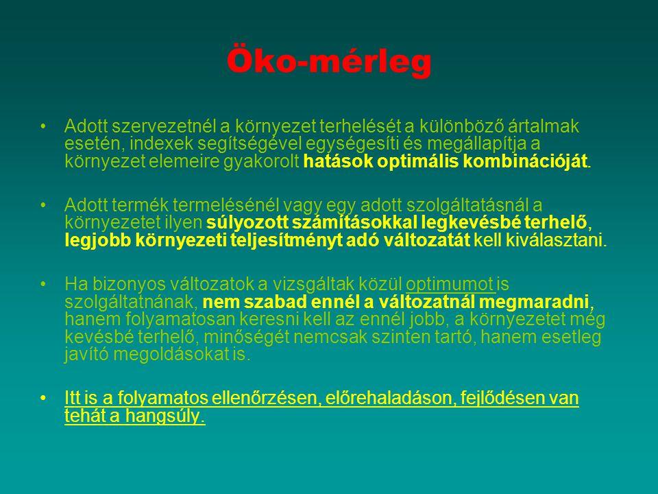 A környezetbarát védjegy (ökocímke) használata hazánkban (folytatás 1) A magyar környezetbarát védjegy rendszert a környezet védelmének általános szabályairól szóló 1995.