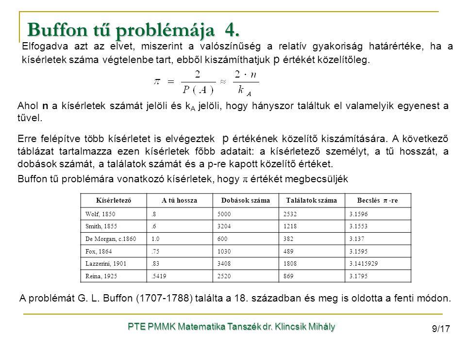 Elfogadva azt az elvet, miszerint a valószínűség a relatív gyakoriság határértéke, ha a kísérletek száma végtelenbe tart, ebből kiszámíthatjuk p érték