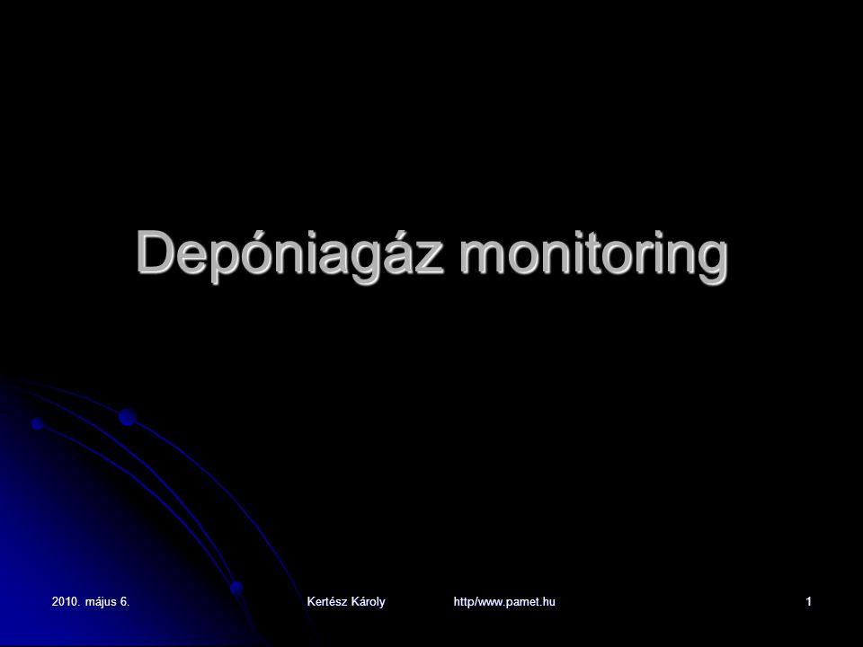 2010. május 6. Kertész Károly http/www.pamet.hu 1 Depóniagáz monitoring