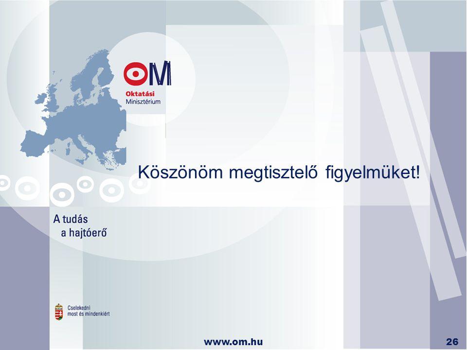 www.om.hu26 Köszönöm megtisztelő figyelmüket!