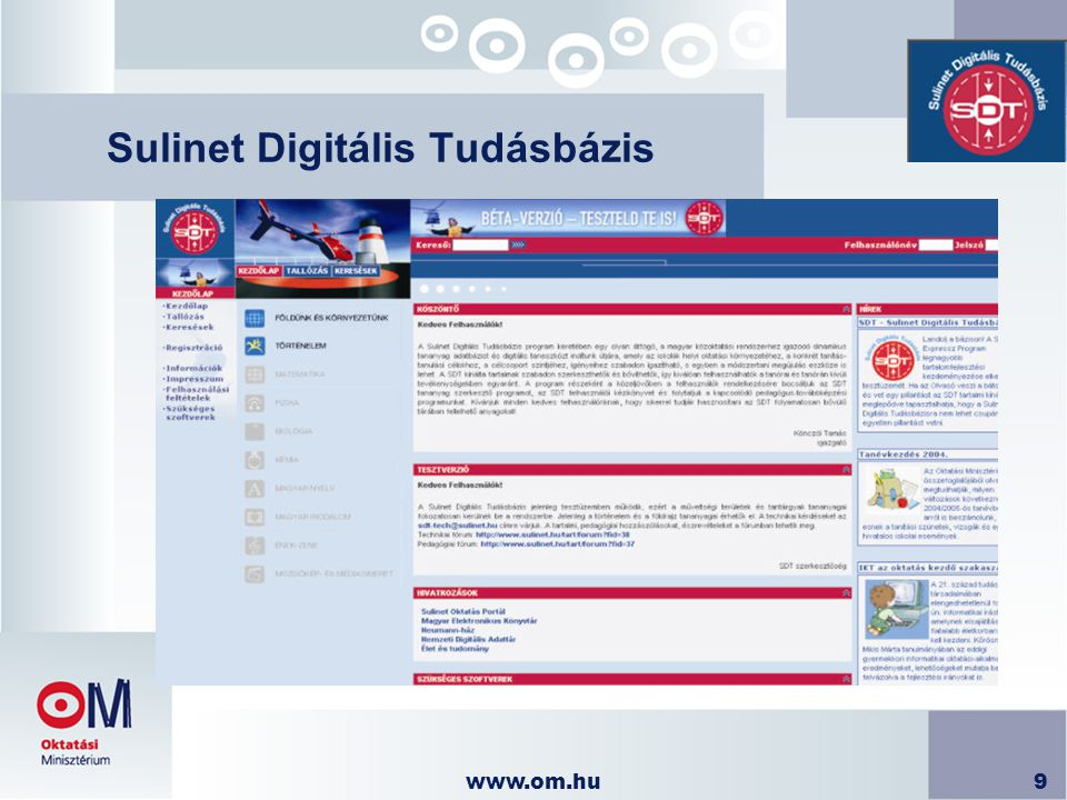 www.om.hu10 Sulinet Digitális Tudásbázis