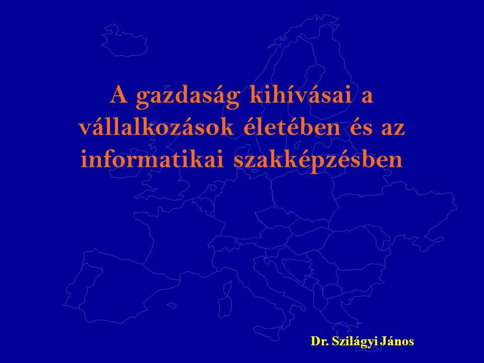 A gazdaság kihívásai a vállalkozások életében és az informatikai szakképzésben Dr. Szilágyi János