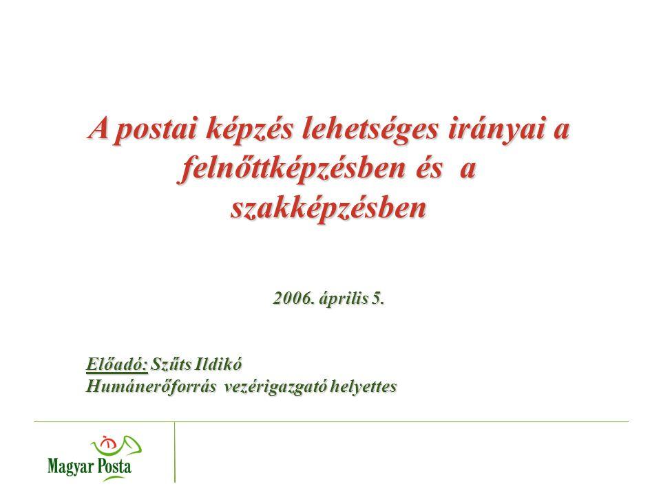 A postai képzés lehetséges irányai a felnőttképzésben és a szakképzésben 2006.