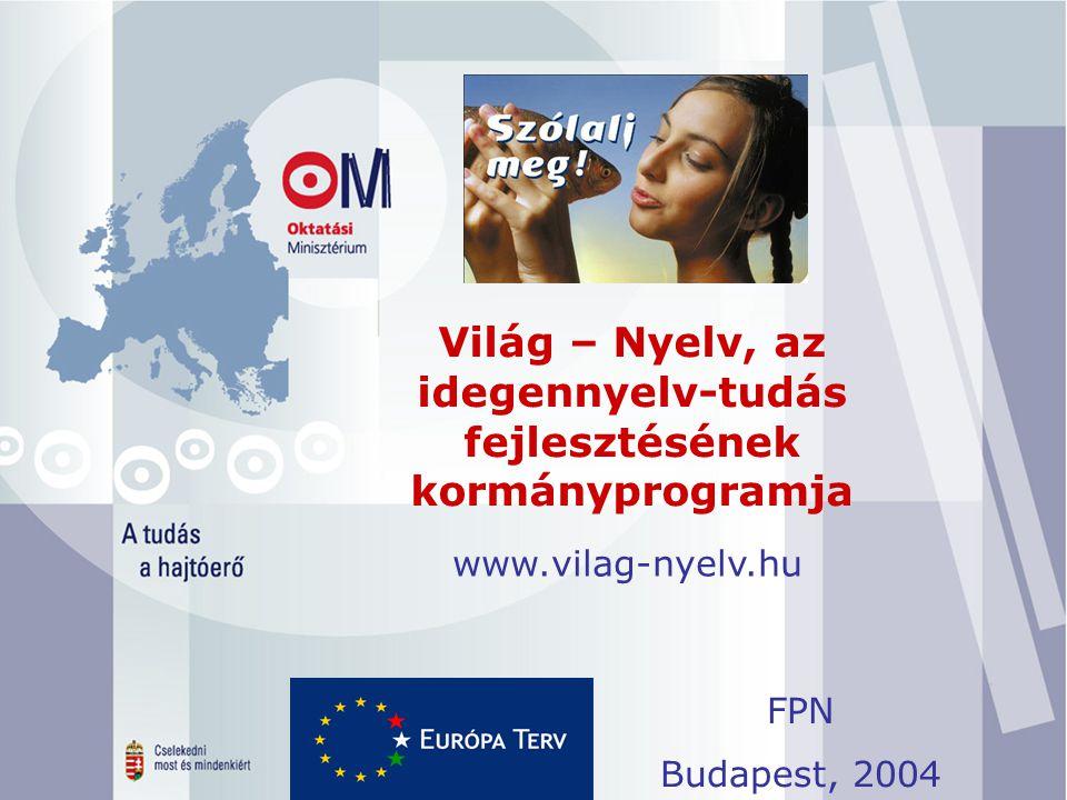 Világ – Nyelv, az idegennyelv-tudás fejlesztésének kormányprogramja.