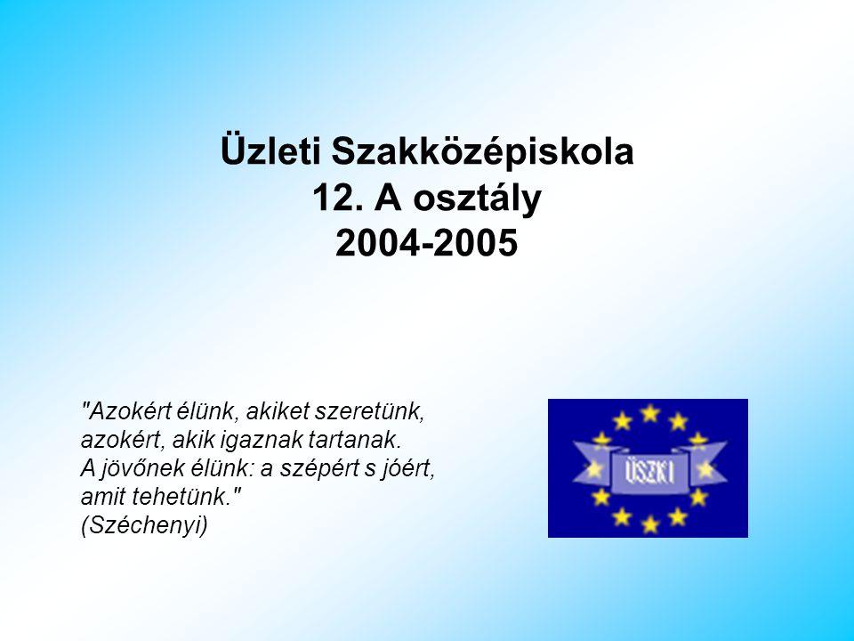 Üzleti Szakközépiskola 12. A osztály 2004-2005