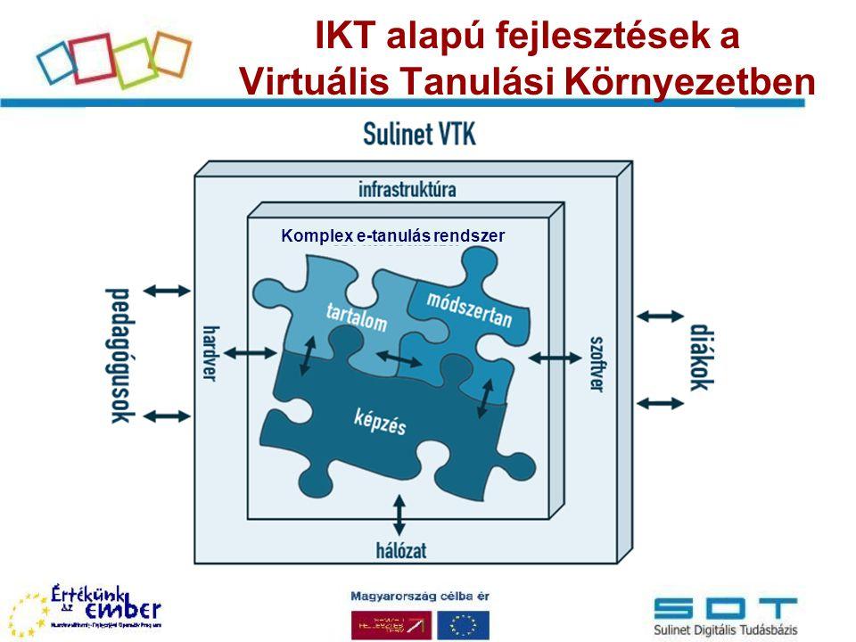 IKT alapú fejlesztések a Virtuális Tanulási Környezetben Komplex e-tanulás rendszer