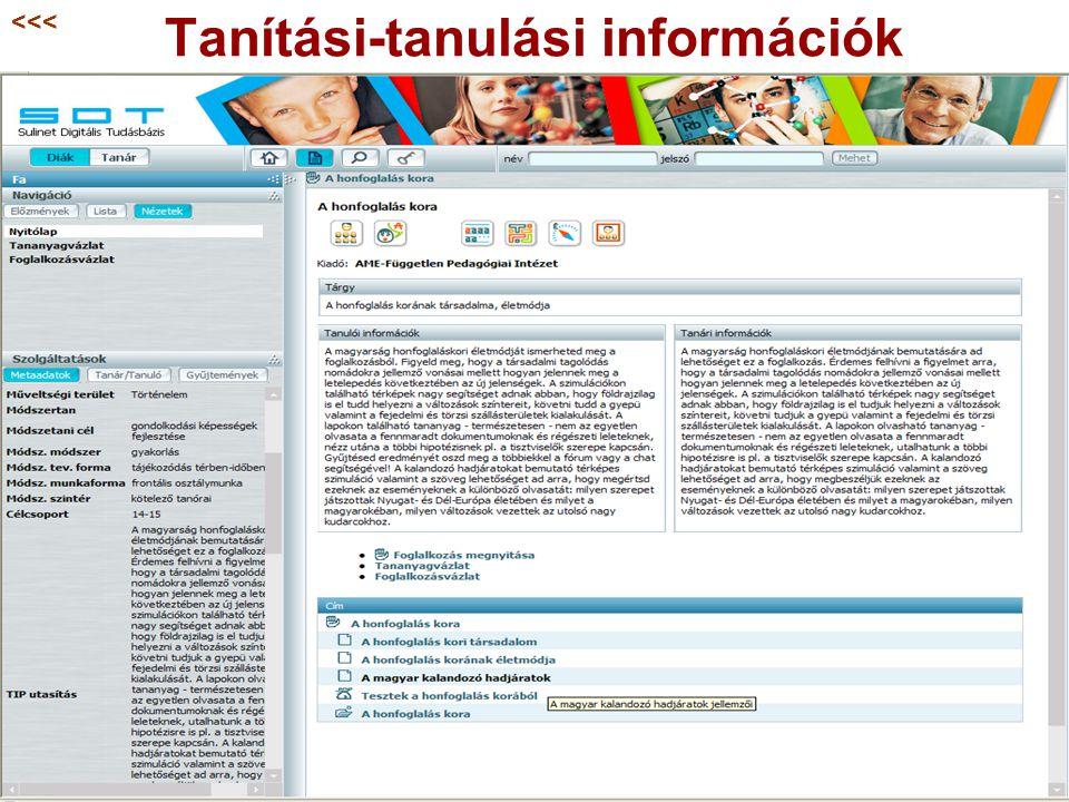 Tanítási-tanulási információk <<<