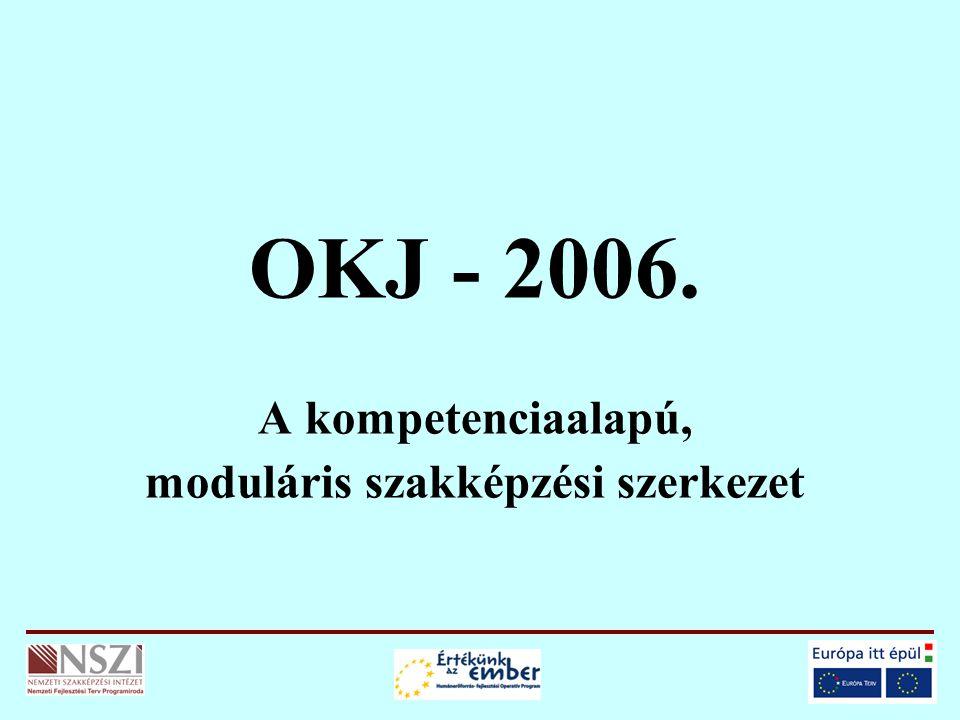 OKJ - 2006. A kompetenciaalapú, moduláris szakképzési szerkezet