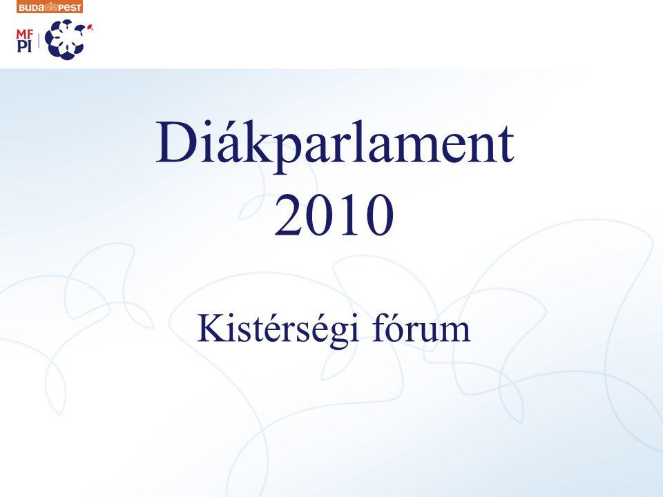 Diákparlament 2010 Kistérségi fórum