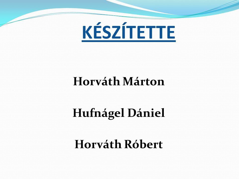 KÉSZÍTETTE Horváth Márton Hufnágel Dániel Horváth Róbert