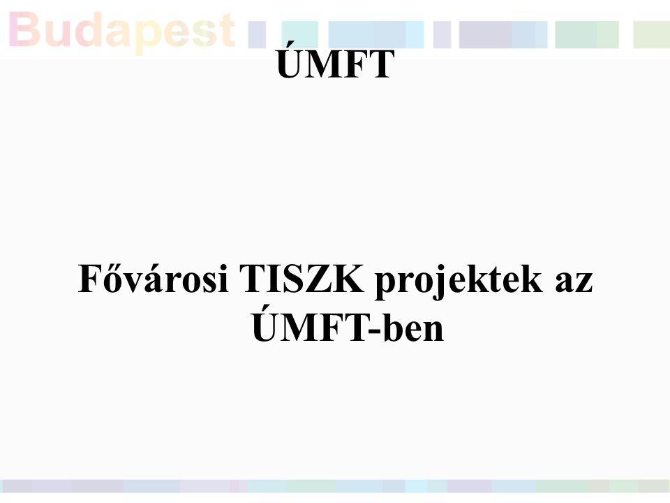 ÚMFT Fővárosi TISZK projektek az ÚMFT-ben