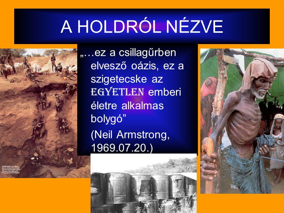 """A HOLDRÓL NÉZVE """"…ez a csillagűrben elvesző oázis, ez a szigetecske az egyetlen emberi életre alkalmas bolygó"""" (Neil Armstrong, 1969.07.20.)"""