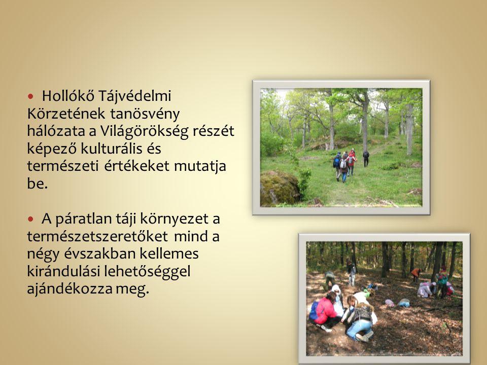 Hollókő Tájvédelmi Körzetének tanösvény hálózata a Világörökség részét képező kulturális és természeti értékeket mutatja be. A páratlan táji környezet
