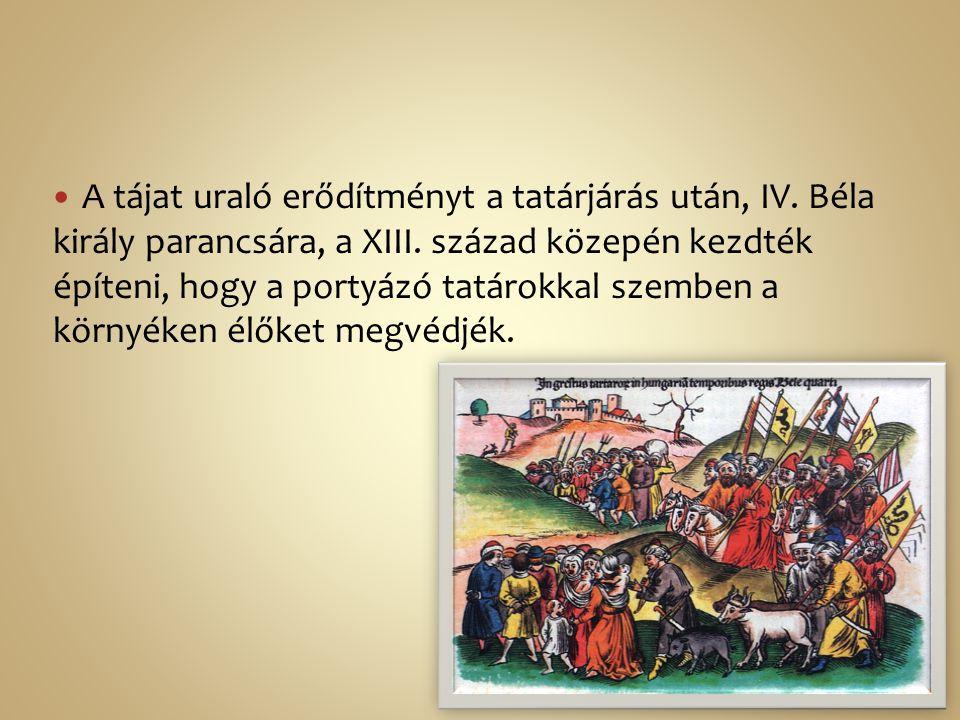 A tájat uraló erődítményt a tatárjárás után, IV. Béla király parancsára, a XIII. század közepén kezdték építeni, hogy a portyázó tatárokkal szemben a