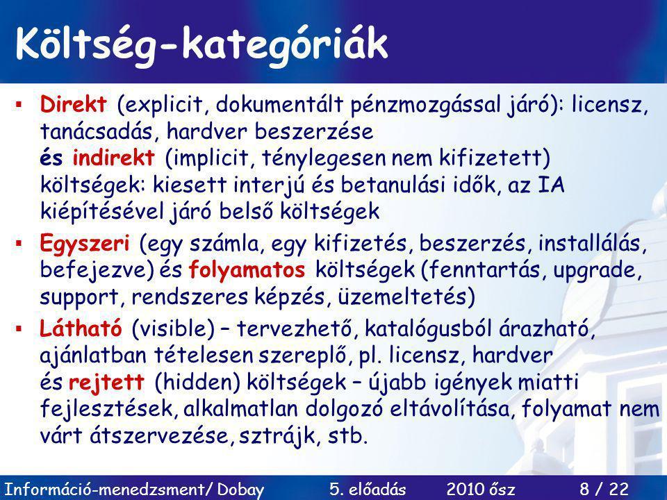 Információ-menedzsment/ Dobay 5.