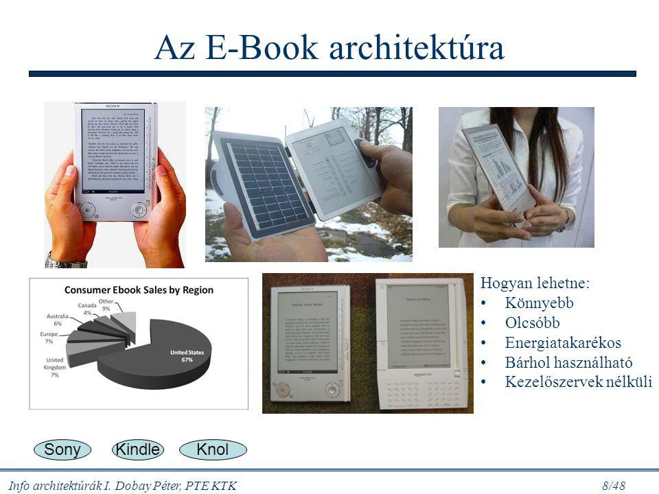 Info architektúrák I. Dobay Péter, PTE KTK 7/48 Gondoljuk meg… Az IBM ICT infrastruktúrája: - 426 datacenter (adatközpont) -1 100 nagyszámítógép -200