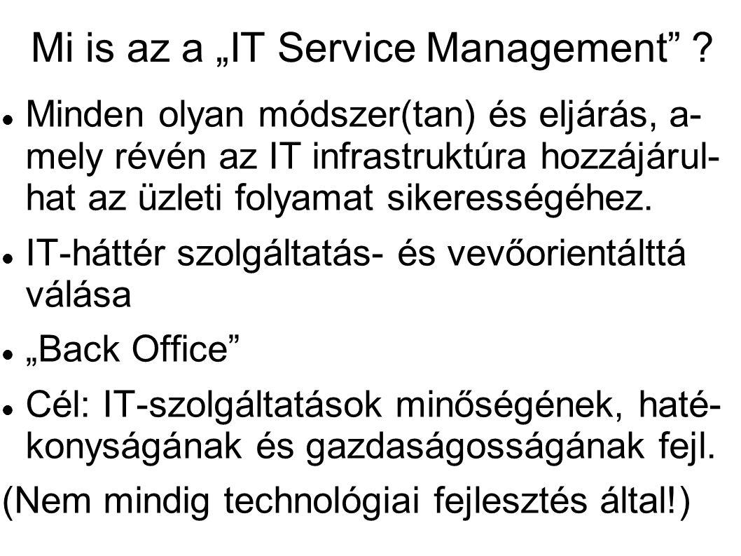 """Mi is az a """"IT Service Management ."""