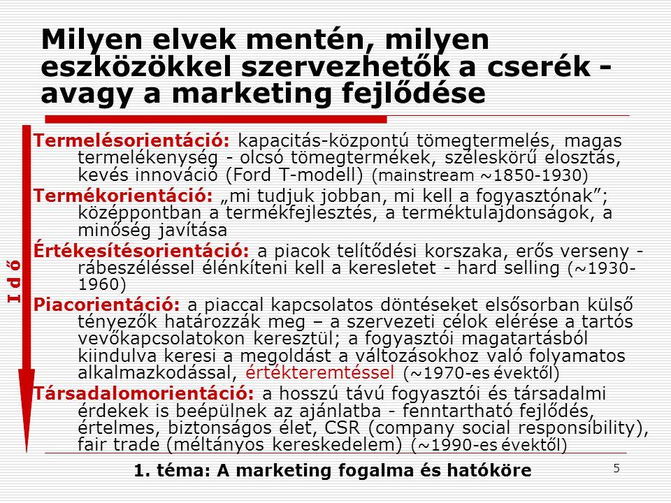 """4 Marketing: a piaci kapcsolatok szervezője Market = piac  marketing=""""piacolás , a piaci kapcsolatok szervezése a vállalati célok érdekében A kereslet és a kínálat összehangolása A piaci kapcsolatokat szervező elvek, tevékenységek és eszközök együttese -közvetlen célja: a vállalat számára fontos vevőkör megnyerése, megtartása és bővítése -végső célja: a vállalati eredmény-célok (profit, megtérülés, stb.) elérése Fontos."""