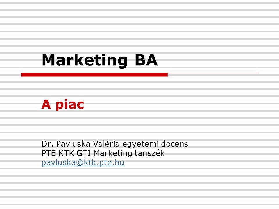 Marketing BA A piac Dr.