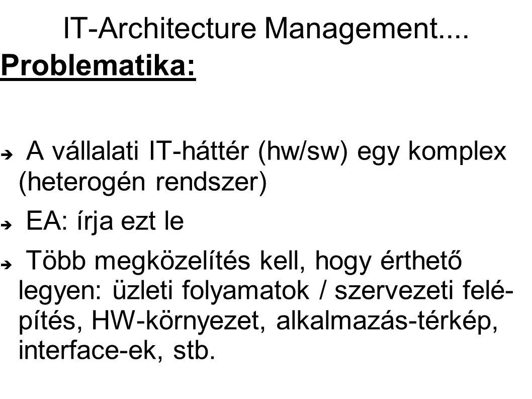 IT-Architecture Management....