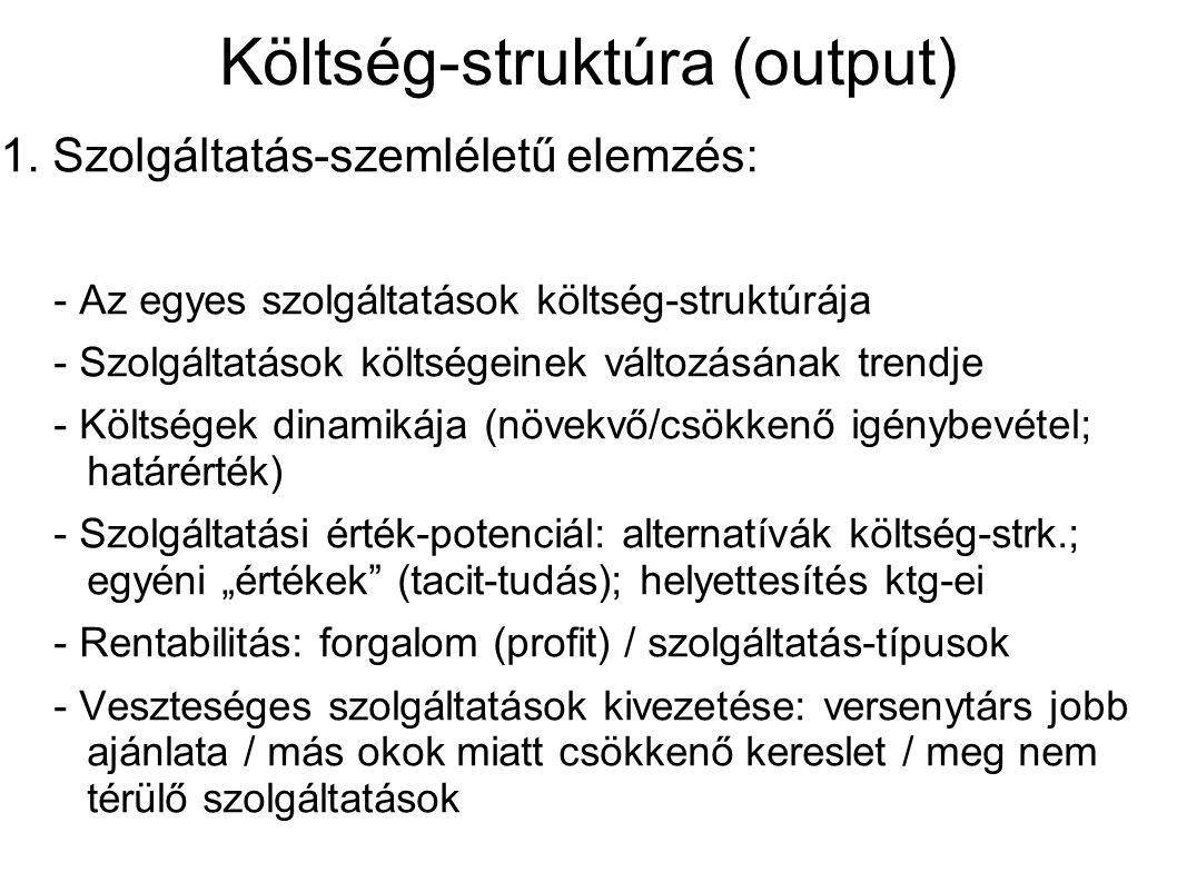 Költség-struktúra (output) 1.