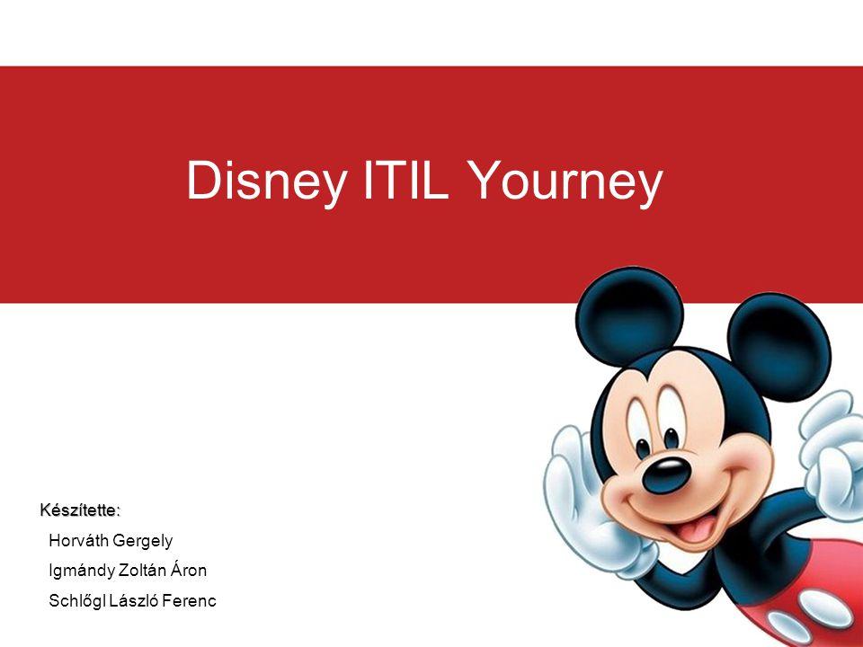 Disney ITIL Yourney Készítette: Horváth Gergely Igmándy Zoltán Áron Schlőgl László Ferenc