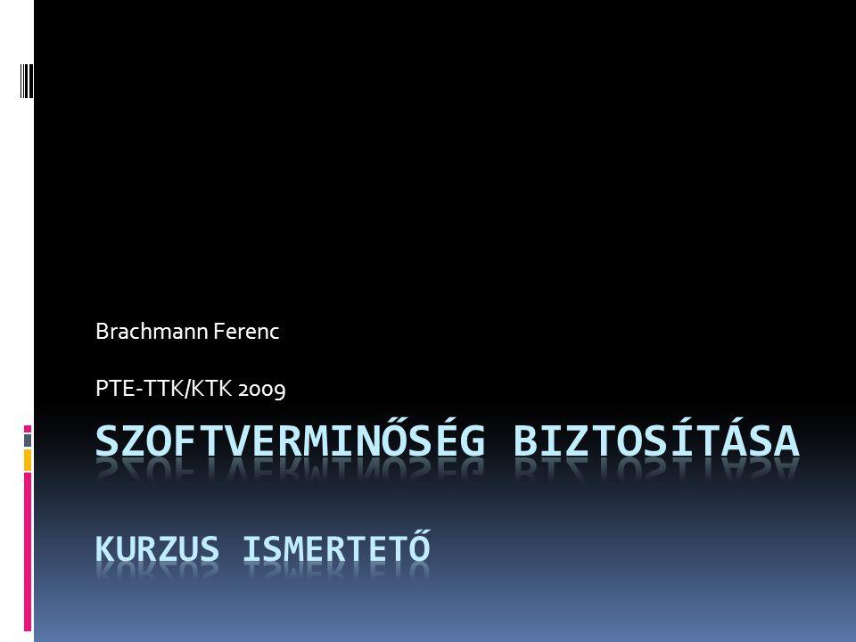 Brachmann Ferenc PTE-TTK/KTK 2009