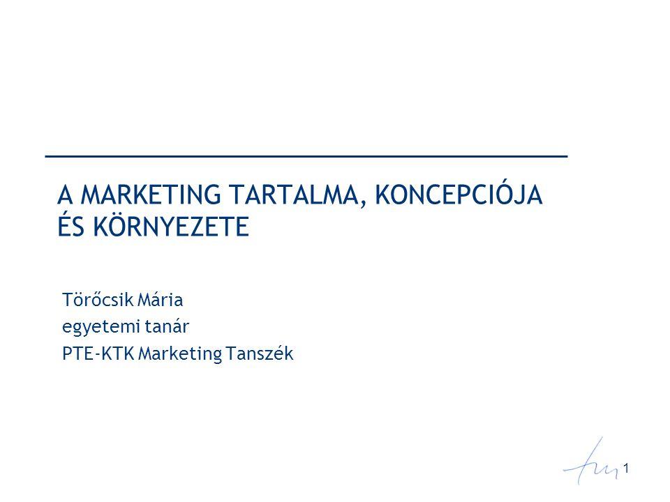 22 Marketingdöntések Marketingstratégiai döntések - vállalat, üzletág, termék Marketingeszközök ( 4 P )  Product termék, kínálat  Price ár, árat módosító döntések  Place csatorna, marketing logisztika  Promotion piacbefolyásolás (promóció, kommunikáció)