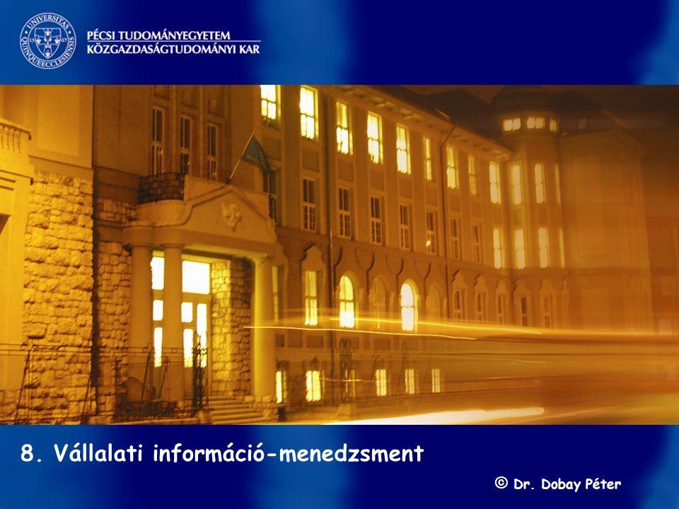 Információ-menedzsment/ Dobay 8. előadás GINFO 2010 ősz 1 / 57 s 8. Vállalati információ-menedzsment © Dr. Dobay Péter