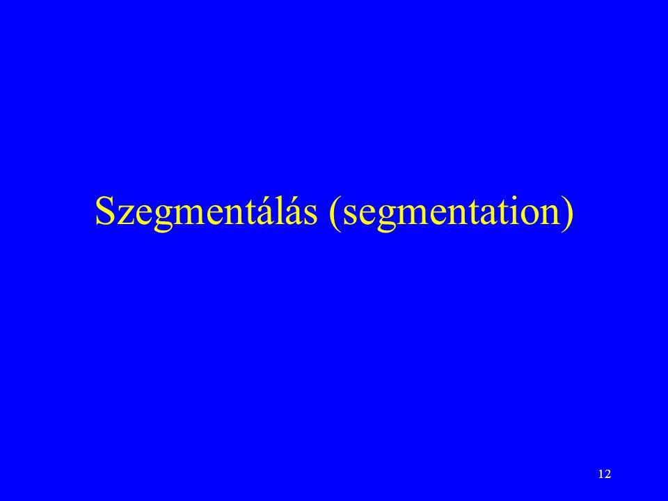 12 Szegmentálás (segmentation)