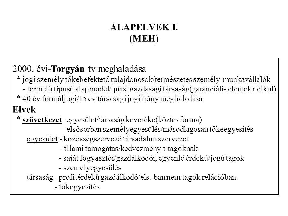 ALAPELVEK I.(MEH) 2000.