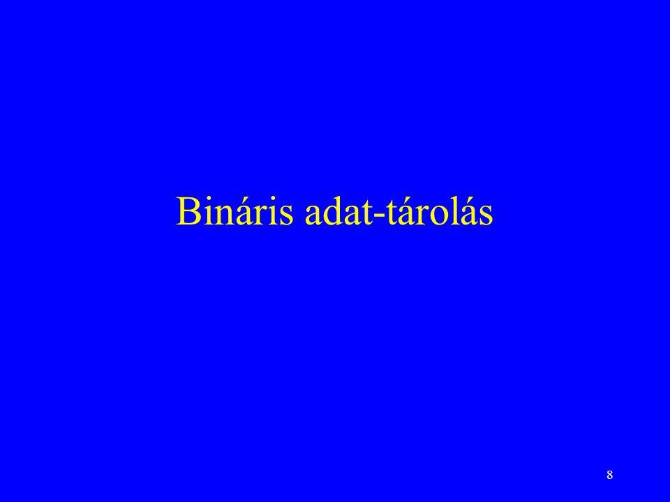 8 Bináris adat-tárolás