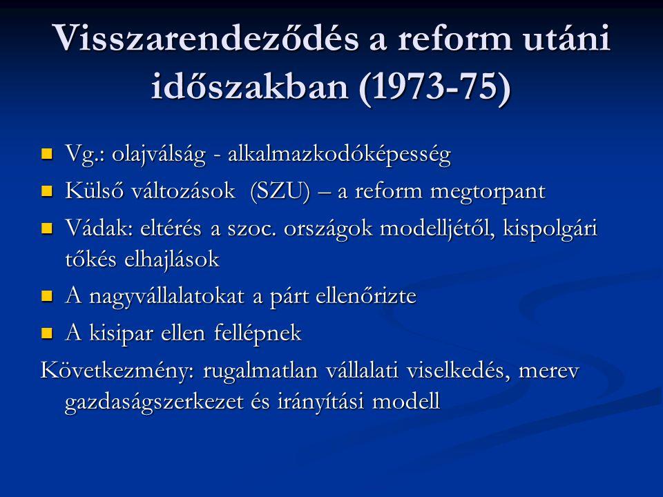 Társadalmi és gazdasági következmények A társ.célja: az életszínvonal őrzése ( 2.