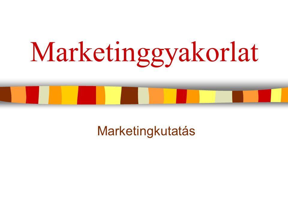 Marketing információs rendszer a szervezet információs alrendszere támogatja a marketingdöntések meghozatalát szervezi és rendszerezi a marketinginformációk  gyűjtését  tárolását  elemzését  disztribúcióját 2Marketinggyakorlat 4.ea