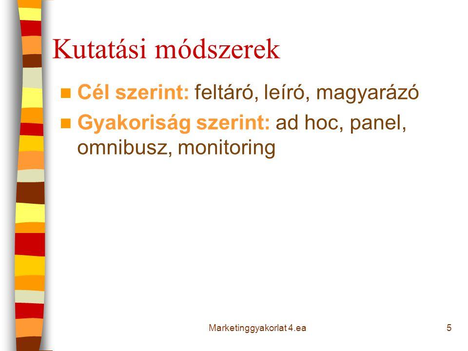 Szekunder adatok 6Marketinggyakorlat 4.ea