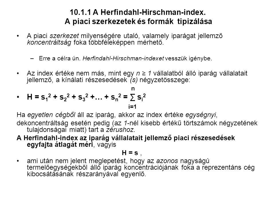 10.1.1 A Herfindahl-Hirschman-index.
