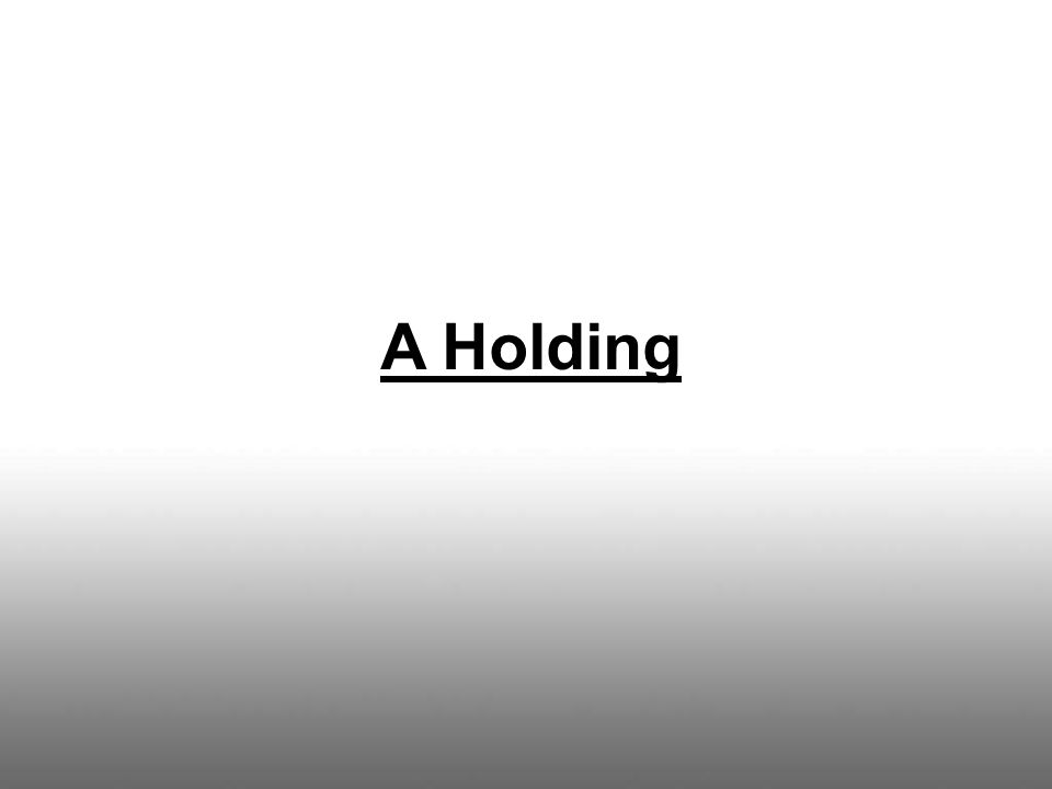 A Holding
