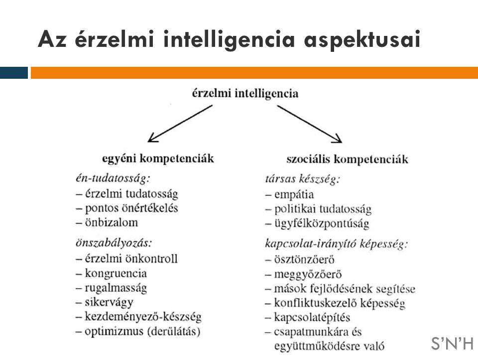 Az érzelmi intelligencia aspektusai S'N'H