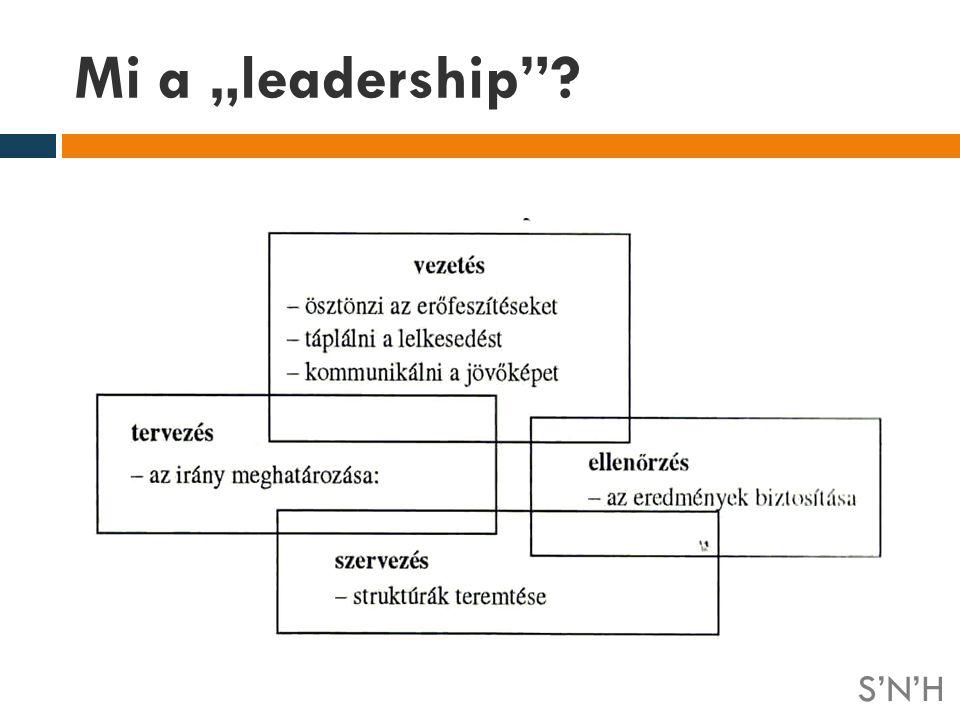 """Mi a """"leadership""""? S'N'H"""