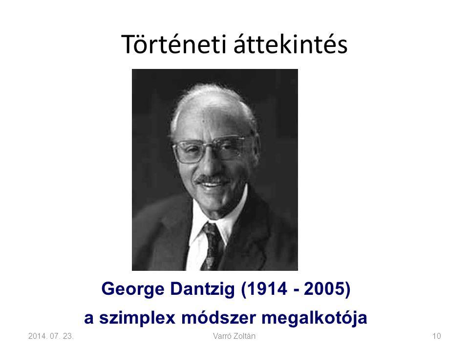 Történeti áttekintés 2014.07.