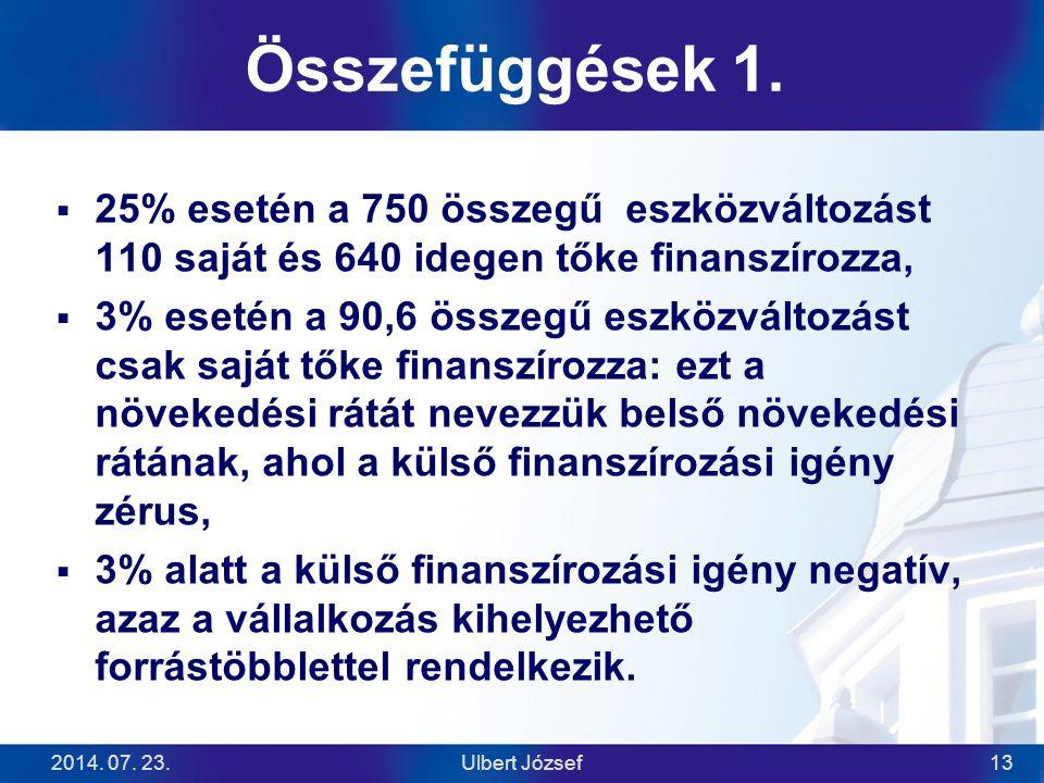 2014.07. 23.Ulbert József13 Összefüggések 1.