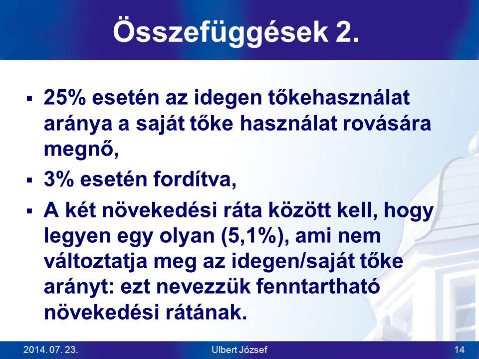2014.07. 23.Ulbert József14 Összefüggések 2.