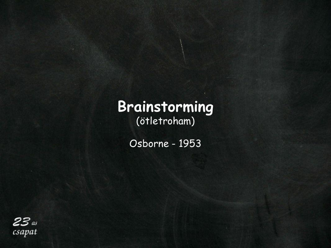 Brainstorming (ötletroham) Osborne - 1953