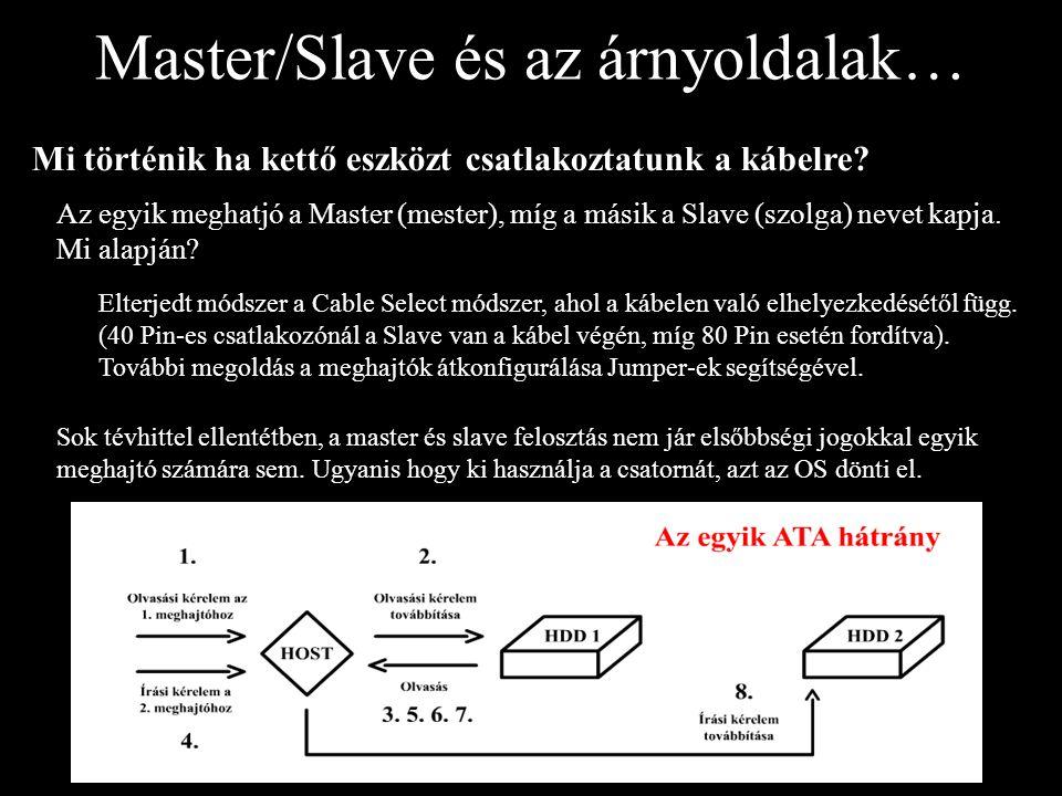 Master/Slave és az árnyoldalak… Mi történik ha kettő eszközt csatlakoztatunk a kábelre? Az egyik meghatjó a Master (mester), míg a másik a Slave (szol