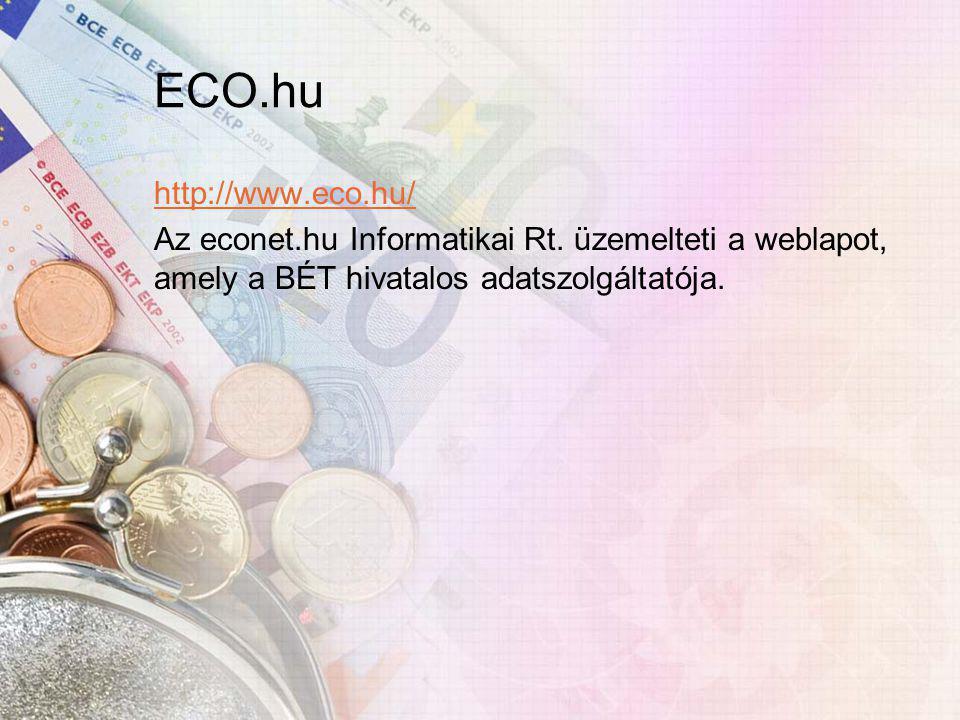 ECO.hu http://www.eco.hu/ Az econet.hu Informatikai Rt.
