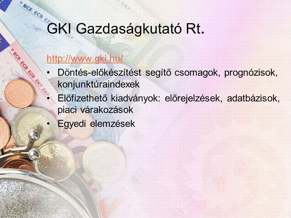 GKI Gazdaságkutató Rt.