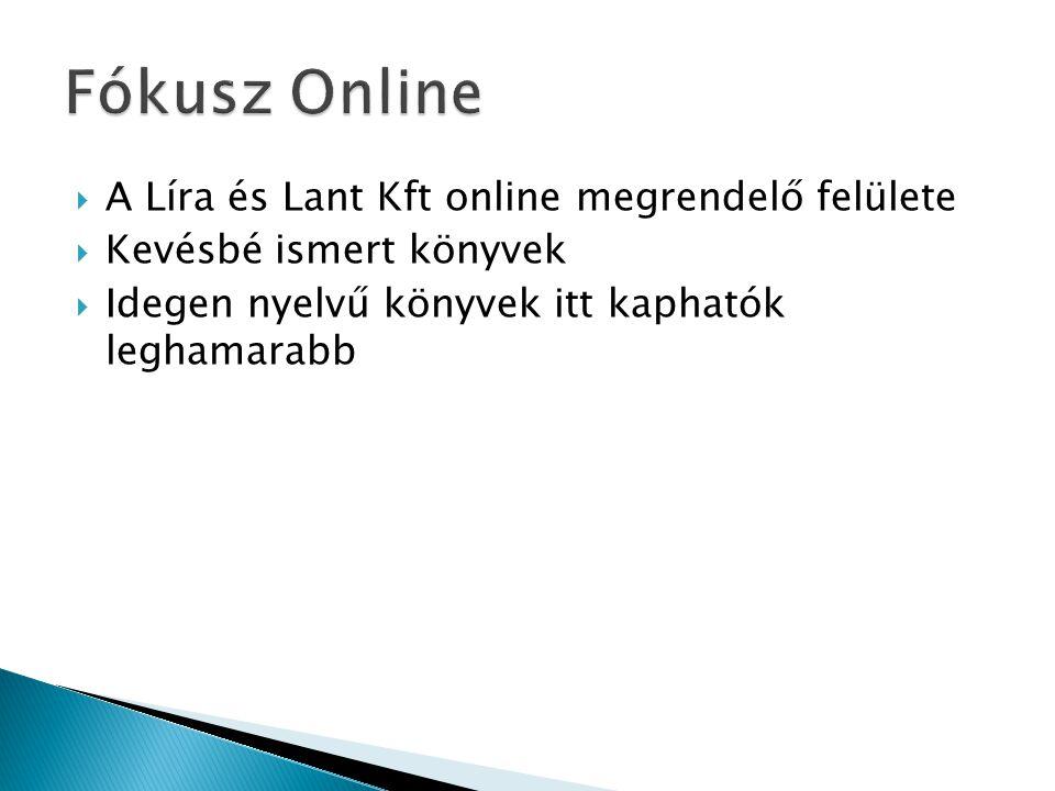  A Líra és Lant Kft online megrendelő felülete  Kevésbé ismert könyvek  Idegen nyelvű könyvek itt kaphatók leghamarabb