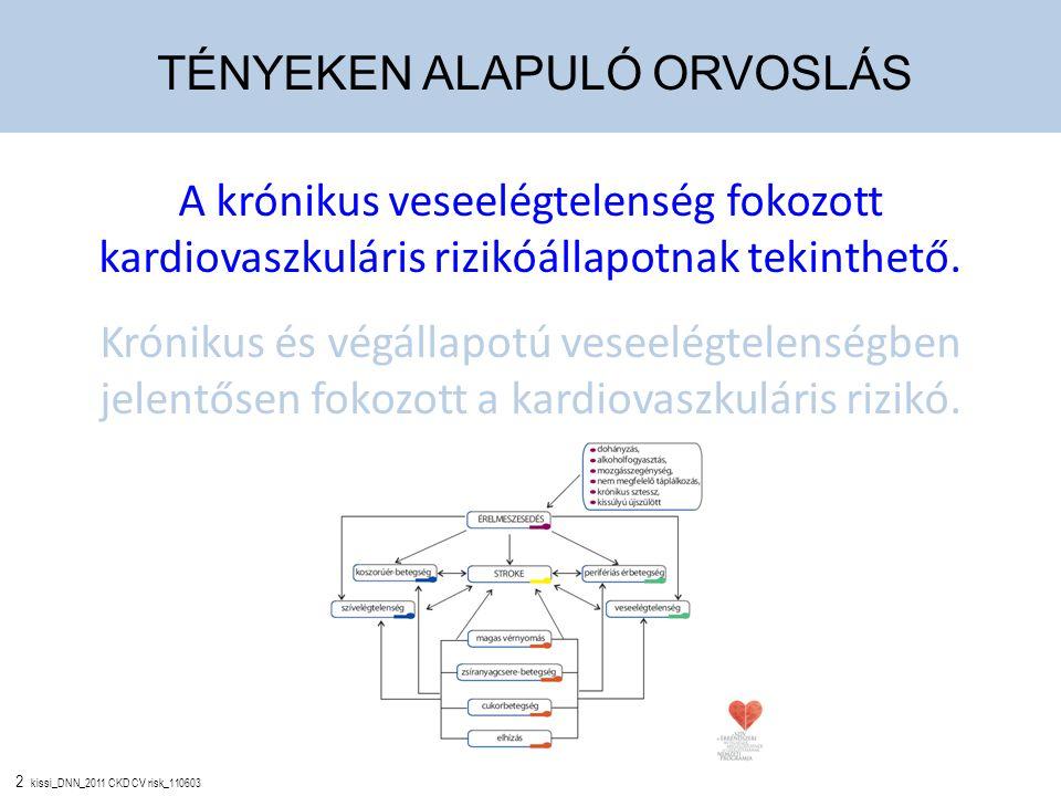 2 kissi_DNN_2011 CKD CV risk_110603 A krónikus veseelégtelenség fokozott kardiovaszkuláris rizikóállapotnak tekinthető. Krónikus és végállapotú veseel